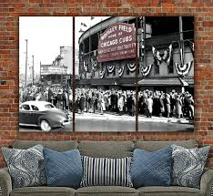 chicago cubs wrigley field 1945 world series digital painting zoom