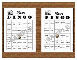 printable thanksgiving bingo 30 printable beer bingo cardsinstant downloaduse for