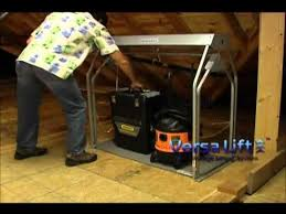 attic lift system youtube