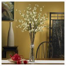 Artificial Flower Arrangement In Vase Nearly Natural Cherry Blossoms With Vase Silk Flower Arrangement