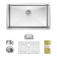 Kitchen Sinks For 30 Inch Base Cabinet by Zuhne 30 Inch Undermount Single Bowl 16 Gauge Stainless Steel