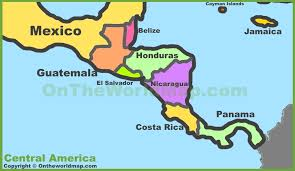 political map of mexico political map of central america