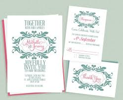 wedding invitations free mint and pink stylized monogram wedding invitation weddings