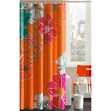Pink And Orange Shower Curtain Pink And Orange Curtains Best Curtains Design 2016
