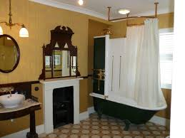 bathroom retro french country bathroom with black and white