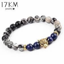bracelet man onyx images 17km dropship leopard head lava stone onyx bead buddha bracelet jpg