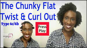 Chunky Flat Twist Hairstyles by Natural Hairstyle The Chunky Flat Twist Out And Curl On 4b 4c