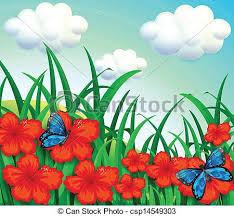 garden clipart drawing clipground