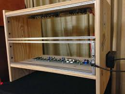 Diy Audio Equipment Rack Ikea Rast 6u Diy Modular Case Modular Overkill