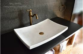 bathroom vessel sink ideas 24 white marble vessel sink bali white within marble