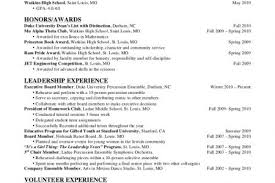 Honors And Awards In Resume First Year Resume Sectioning Enforcing Writing Across Full Width