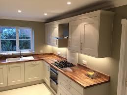 kitchen worktop ideas lima kitchens marlow painted putty kitchen with walnut worktops