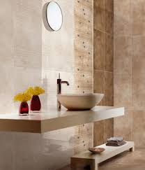 endearing bathroom design ideas with round white ceramic vessel