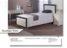designer single white leather bed frame diamond 3ft bed frame