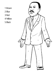 free printable martin luther king coloring pages eson me