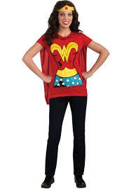 wonder woman t shirt u0026 cape superhero fancy dress escapade uk