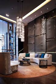 awesome black brown wood glass luxury design chandelier livingroom