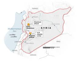 Syria On A Map by Syria Airstrikes Map Of Chemical Attacks And Us Strike Time Com