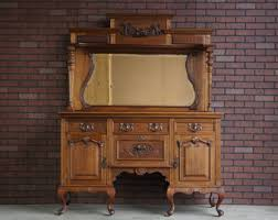 vintage ethan allen buffet with hutch antique furniture