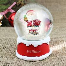 Personalised Snow Globes Tree Decorations Personalised Santa Snow Globe Buy From Prezzybox Com