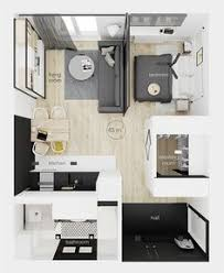 studio apartment floorplan layout home decor pinterest