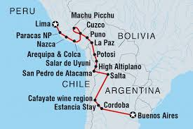Atacama Desert Map Lima To Buenos Aires Peru Tours Intrepid Travel Us