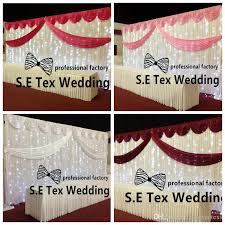 wedding backdrop prices 2018 cheap price white color wedding backdrop curtain stage