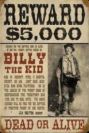 billy the kid wanted poster change to