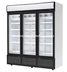 glass door refrigerator for sale 3 doors stainless steel glass door beverage cooler large storage