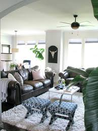 Living Room Black Leather Sofa Life Love Larson Decorating Around Dark Leather Sofas