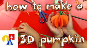 how to make a 3d pumpkin youtube