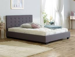 Upholstered Bed Frame Cole California by Lucia Silver Fabric Upholstered Bed Frame Dreams Regarding Frames