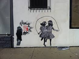 the gallerista banksy is graffiti art the new political cartoon spaulding melrose ave