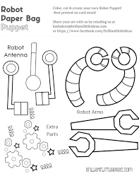 robot paper sack puppets brilliant ideas