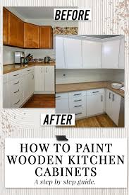 painting wood cabinets in kitchen how to paint wooden kitchen cabinets step by step guide