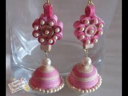 how to make jhumka earrings diy how to make paper quilled jhumka paper quilling earring
