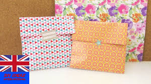 gift bag folding idea u2013 how to make a simple box for presents and