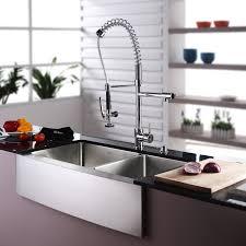 kitchen sink with faucet set kraus 35 9 x 20 75 basin farmhouse kitchen sink set with