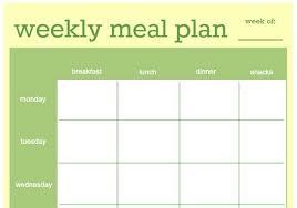 diet menu template printable menu planner templates pop in a 8x10