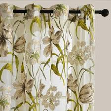 top finel tropical floral print semi sheer curtains for living