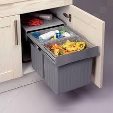 meuble poubelle cuisine poubelle sous évier à sortie totale lmpou6291gr idées maison