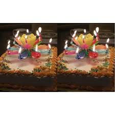 amazing happy birthday candle exciting candle 2 two various color amazing lotus flower happy