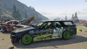 nissan stagea nissan stagea r34 faceswap add on livery unlocked gta5