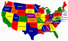 us map states only usa map with states only stock vector colored map of the united
