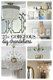 how to make a birdcage chandelier remodelaholic 25 gorgeous diy chandeliers