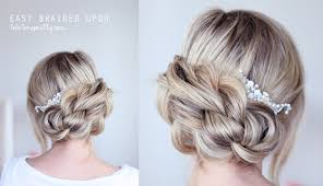 updos for long hair with braids easy braided updo youtube