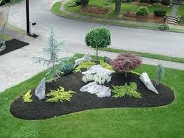landscape bed ideas garden design with ideas for a slope front