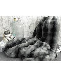 fur throws for sofas black wolf faux fur throw large dark grey bed or sofa throw