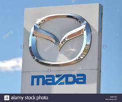 mazda car symbol logo of mazda stock photo royalty free image 115688285 alamy