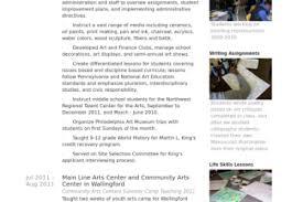 Art Teacher Resume Sample by Resumes Sample Plumber Resume Examples Auto Body Painter Resume